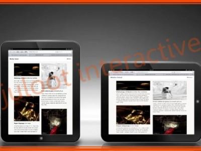 responsive website MALKAINBAL ART by juloot interactive